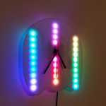 Comb Jelly Wall Clock in ambient light